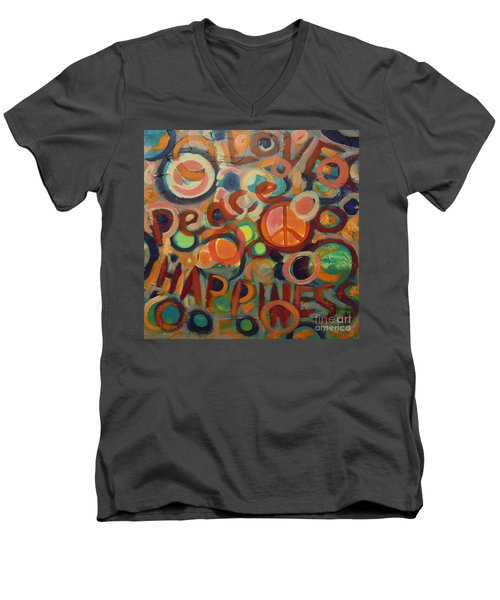 Love Peace Happiness Men's V-Neck T-Shirt