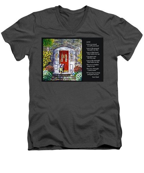 Love Men's V-Neck T-Shirt by Ron Haist