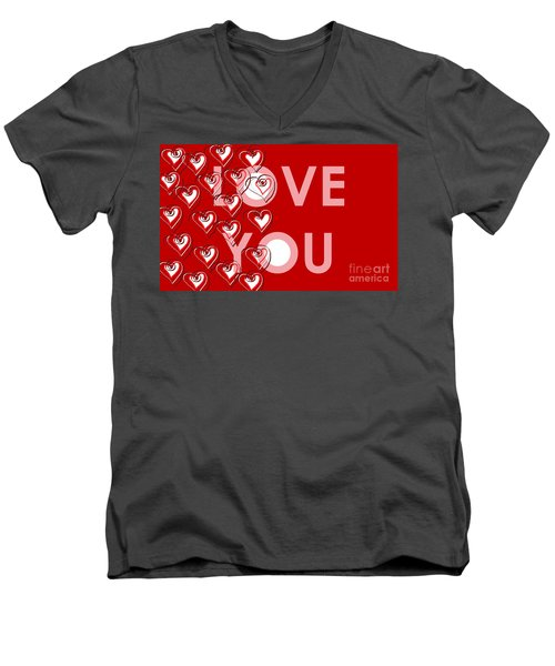 Love You Men's V-Neck T-Shirt