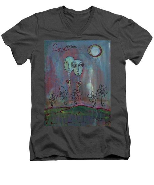 Love You Give Lollipops Men's V-Neck T-Shirt
