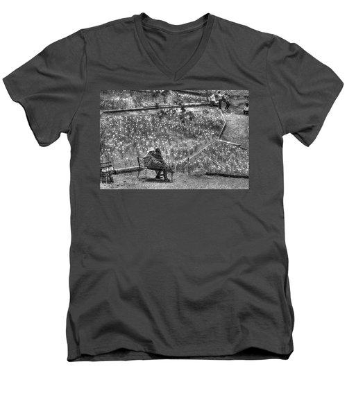 Lovers On Daffodil Hill Men's V-Neck T-Shirt