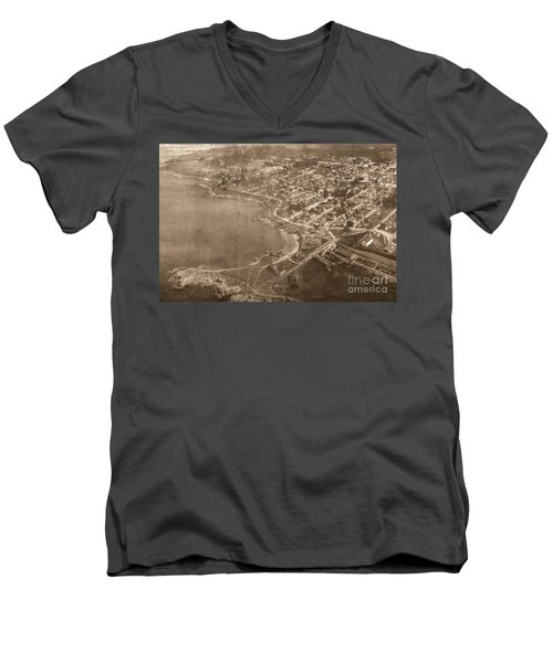 Aerial Of Lovers Point And Pacific Grove California July 10 1906 Men's V-Neck T-Shirt