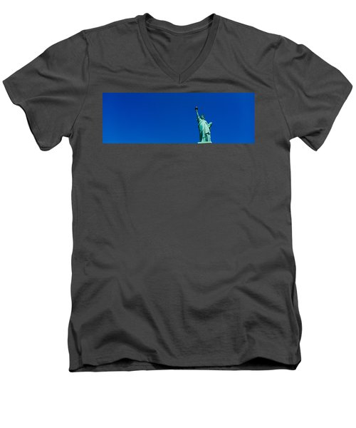 Low Angle View Of Statue Of Liberty Men's V-Neck T-Shirt