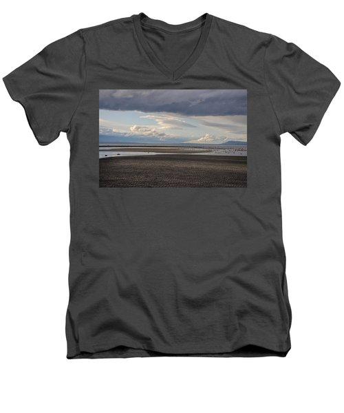 Low Tide  Men's V-Neck T-Shirt by Roxy Hurtubise