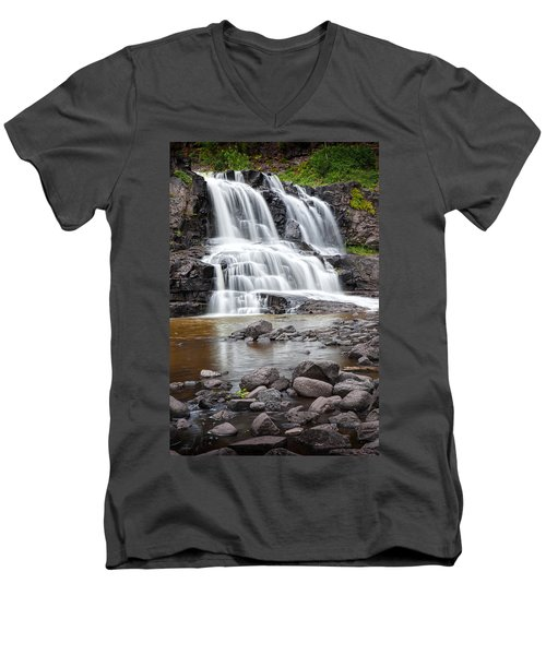 Lower Gooseberry Falls Men's V-Neck T-Shirt