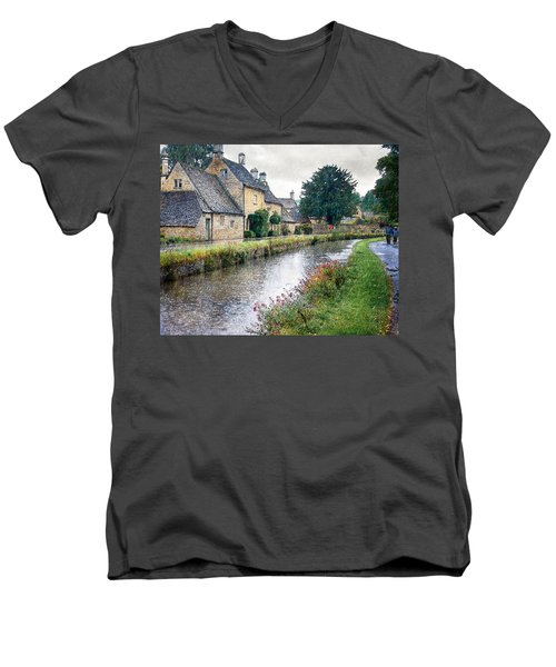 Lower Slaughter Men's V-Neck T-Shirt by William Beuther