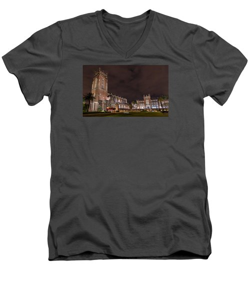 Men's V-Neck T-Shirt featuring the photograph Loyola University New Orleans by Tim Stanley