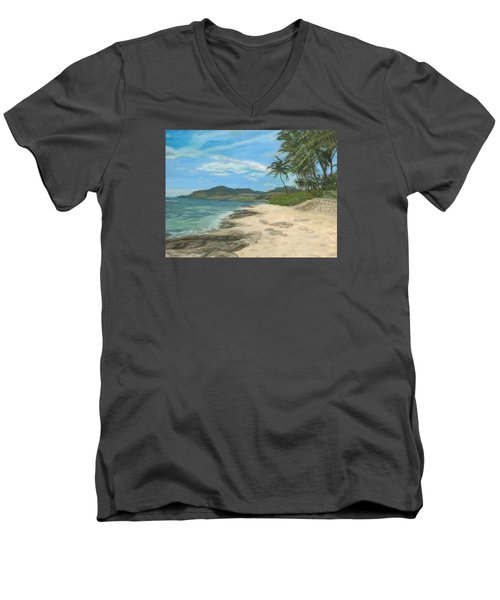 Lualualei Beach Men's V-Neck T-Shirt