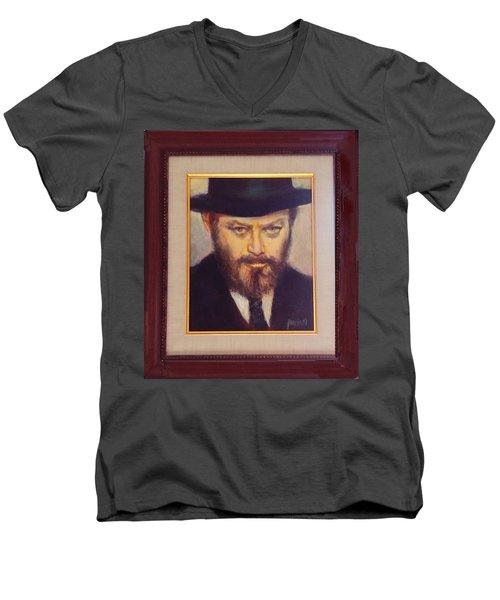 Lubavitcher Rebbe  Men's V-Neck T-Shirt