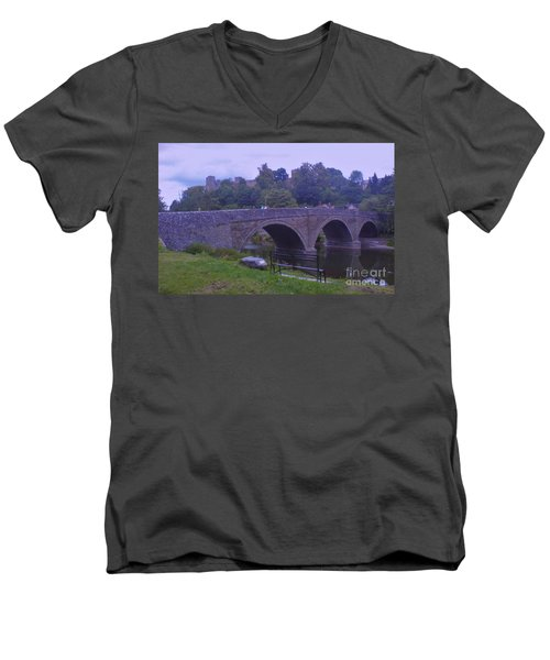 Men's V-Neck T-Shirt featuring the photograph Ludlow Castle by John Williams