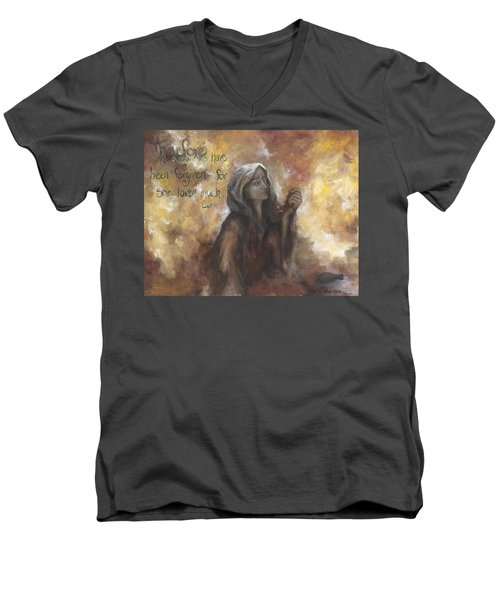 Luke 7 Verse 47 Forgiveness Men's V-Neck T-Shirt