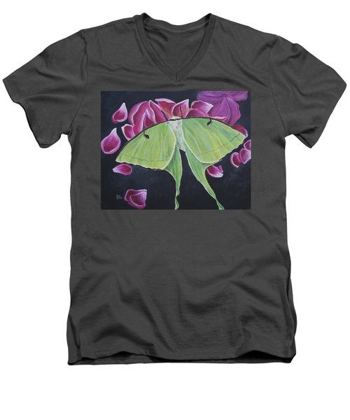 Luna Moth Men's V-Neck T-Shirt