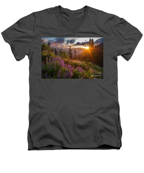 Lupine Meadows Sunstar Men's V-Neck T-Shirt