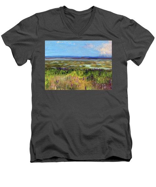 Lupine Of Fort Hill Men's V-Neck T-Shirt