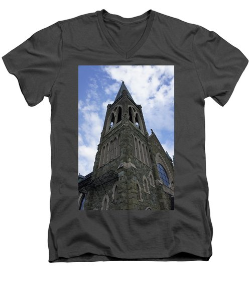 Men's V-Neck T-Shirt featuring the photograph Luray Chapel by Laurie Perry