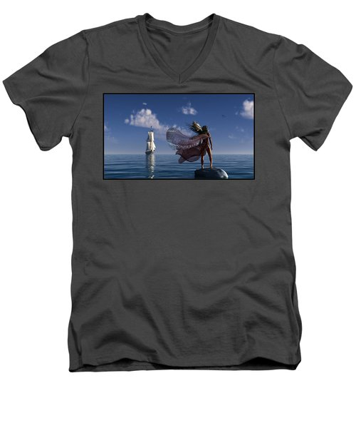 Lure Of The Siren... Men's V-Neck T-Shirt