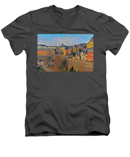 Luxembourg Fortification Men's V-Neck T-Shirt