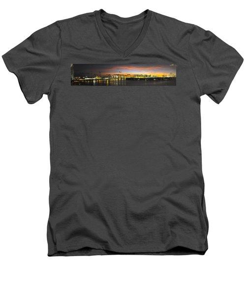 Macarthur Causeway Bridge Men's V-Neck T-Shirt