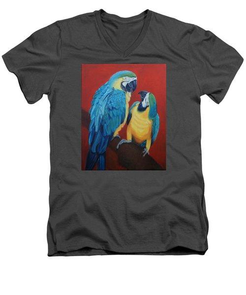 Macaws   Men's V-Neck T-Shirt