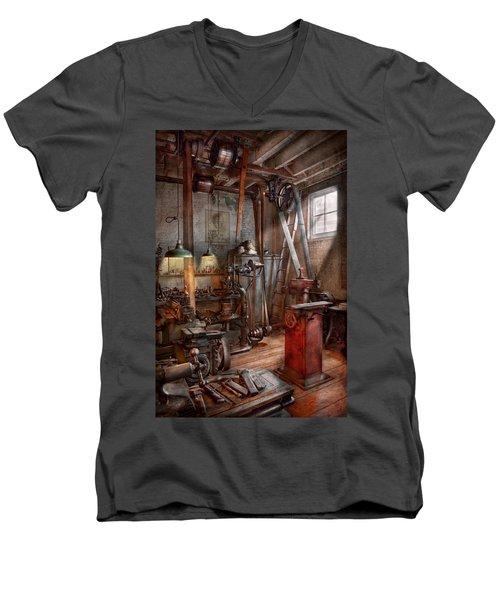 Machinist - The Modern Workshop  Men's V-Neck T-Shirt