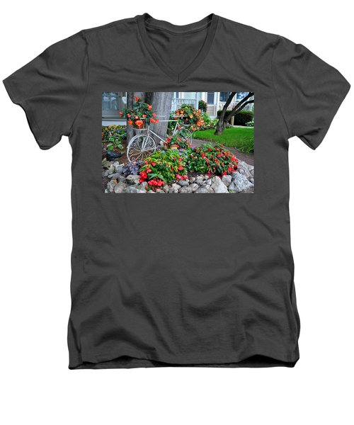 Mackinac Island Garden Men's V-Neck T-Shirt