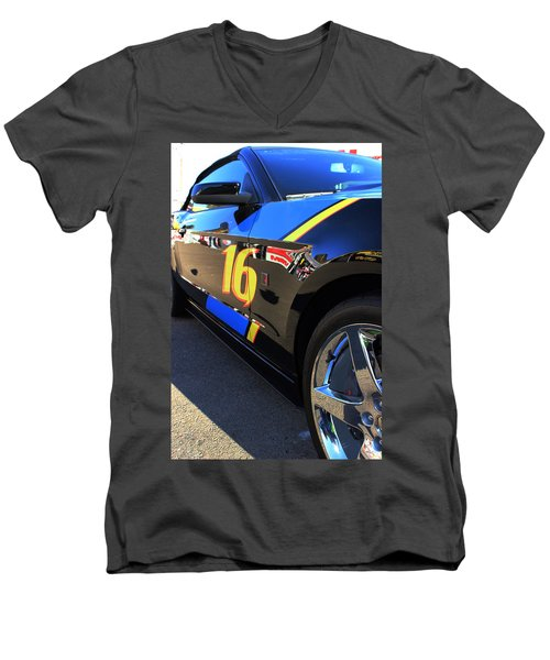 Men's V-Neck T-Shirt featuring the photograph Made For Speed by Natalie Ortiz