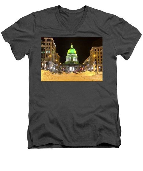 Madison Capitol Men's V-Neck T-Shirt by Steven Ralser