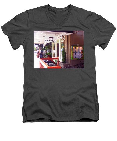 Madison Valley Street Scene 1 Men's V-Neck T-Shirt