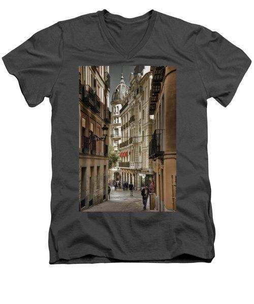 Madrid Streets Men's V-Neck T-Shirt