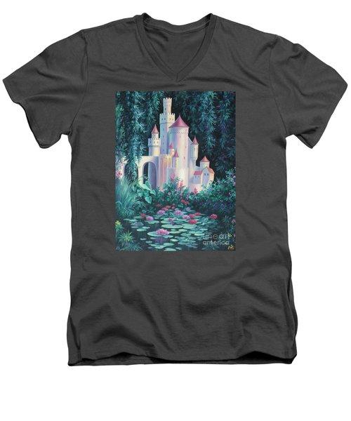 Magic Castle Men's V-Neck T-Shirt by Vivien Rhyan