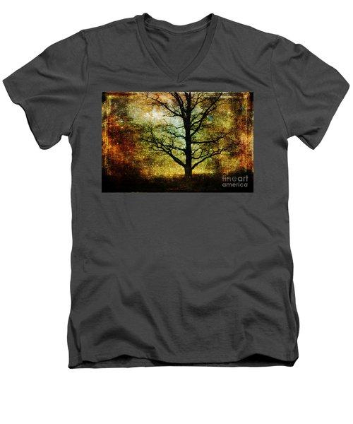 Magic Night Men's V-Neck T-Shirt by Randi Grace Nilsberg