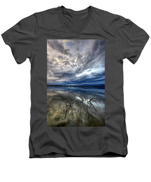 Magical Lake - Vertical Men's V-Neck T-Shirt