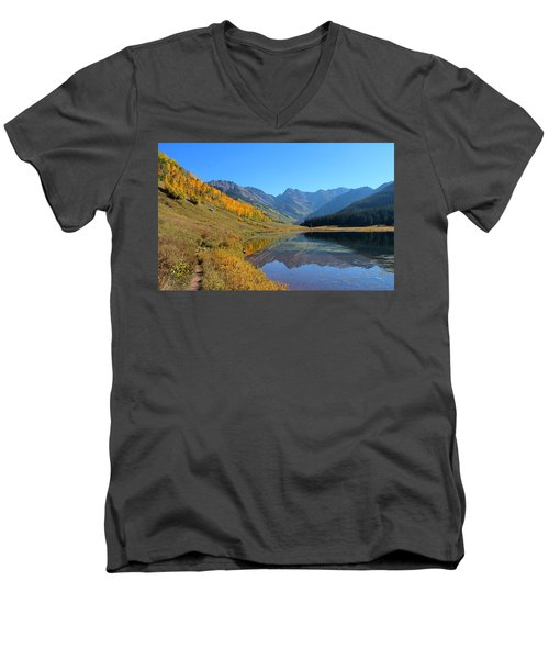 Magical View Men's V-Neck T-Shirt by Fiona Kennard