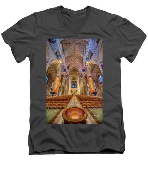 Magnificent Cathedral V Men's V-Neck T-Shirt