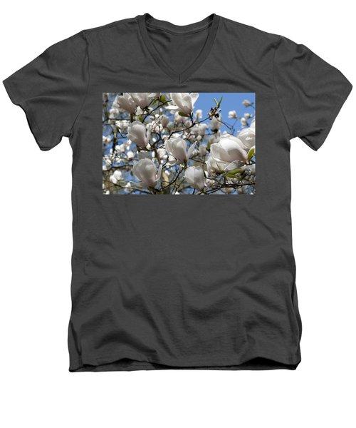 Magnolia Men's V-Neck T-Shirt by Lana Enderle