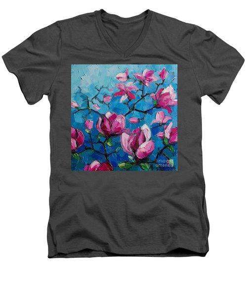 Magnolias For Ever Men's V-Neck T-Shirt