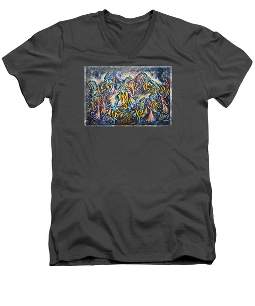 Maha Rass Men's V-Neck T-Shirt by Harsh Malik