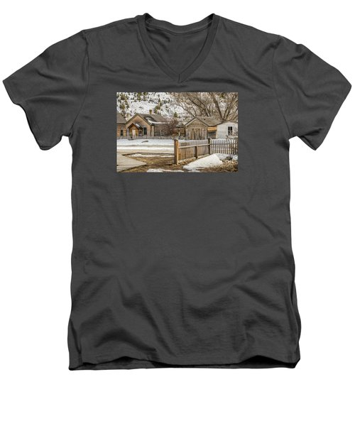 Men's V-Neck T-Shirt featuring the photograph Main Street by Sue Smith