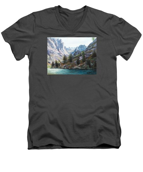 Majestic Montana Men's V-Neck T-Shirt