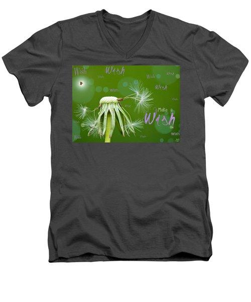 Make A Wish Card Men's V-Neck T-Shirt