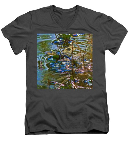 Men's V-Neck T-Shirt featuring the photograph Making A Deposit For The Future by Gary Holmes