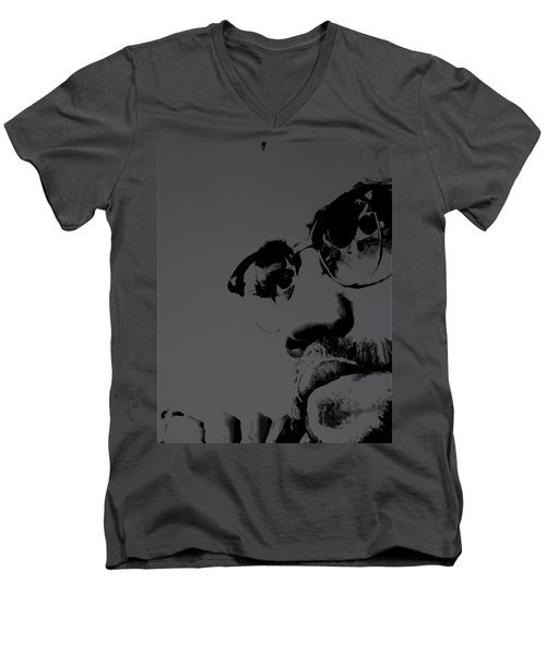 Malcolm X Men's V-Neck T-Shirt