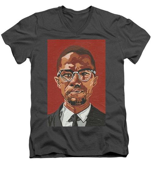 Malcolm X Men's V-Neck T-Shirt