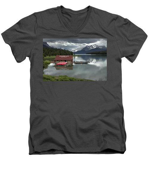Maligne Lake Jasper Park Men's V-Neck T-Shirt