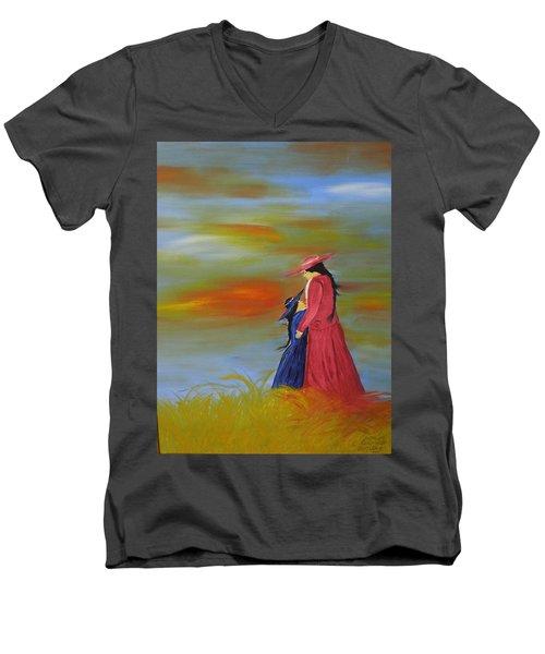 Mama's Love Men's V-Neck T-Shirt