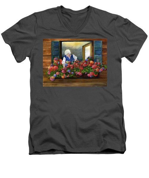 Mama's Window Garden Men's V-Neck T-Shirt