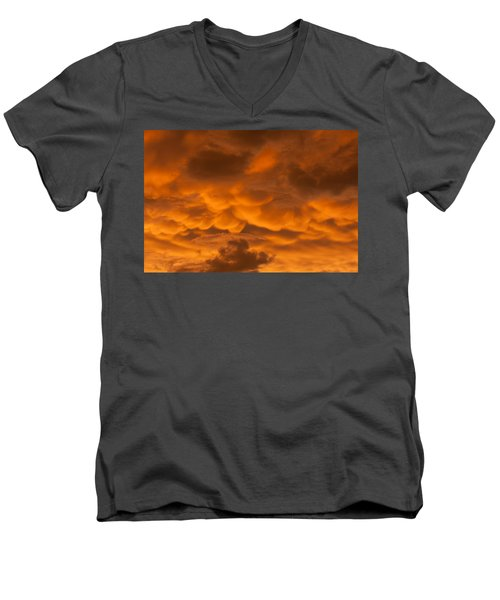 Mammatus Clouds Men's V-Neck T-Shirt by Paul Rebmann
