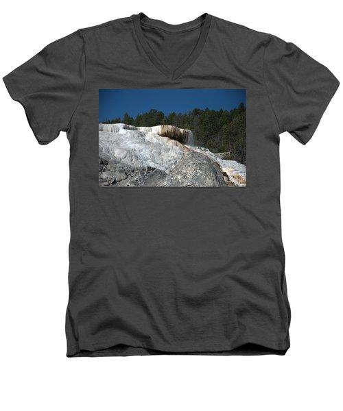 Mammoth Hot Springs 1 Men's V-Neck T-Shirt