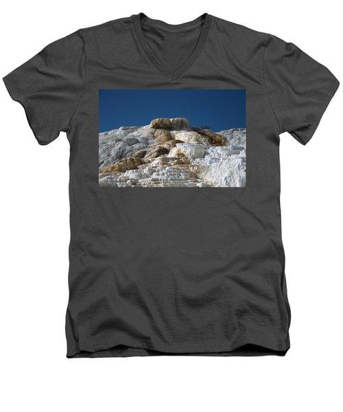 Mammoth Hotsprings 4 Men's V-Neck T-Shirt