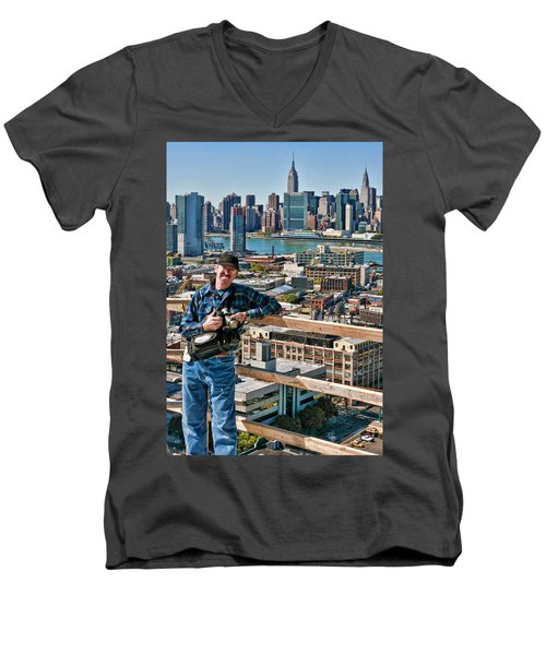 Man At Work Men's V-Neck T-Shirt